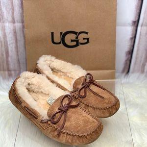 UGG shearling slippers chestnut